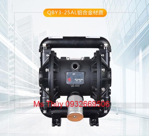 máy bơm màng QBY3-25A Nhôm, máy bơm màng QBY3-25A, bơm màng thân nhôm, bơm màng QBY3-25A, QBY3-25A, QBY3,