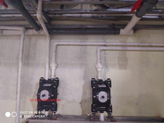 Máy bơm màng khí nén QBY4-10L thân nhôm