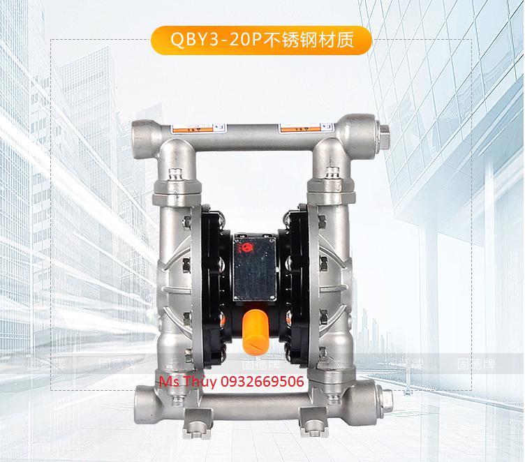 Bơm màng Godo QBY3-20P INOX