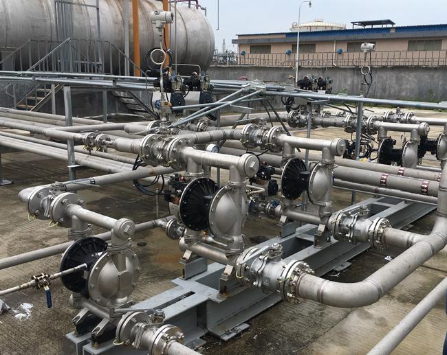 Máy bơm màng khí nén được ứng dụng rộng rãi trong sản xuất công nghiệp